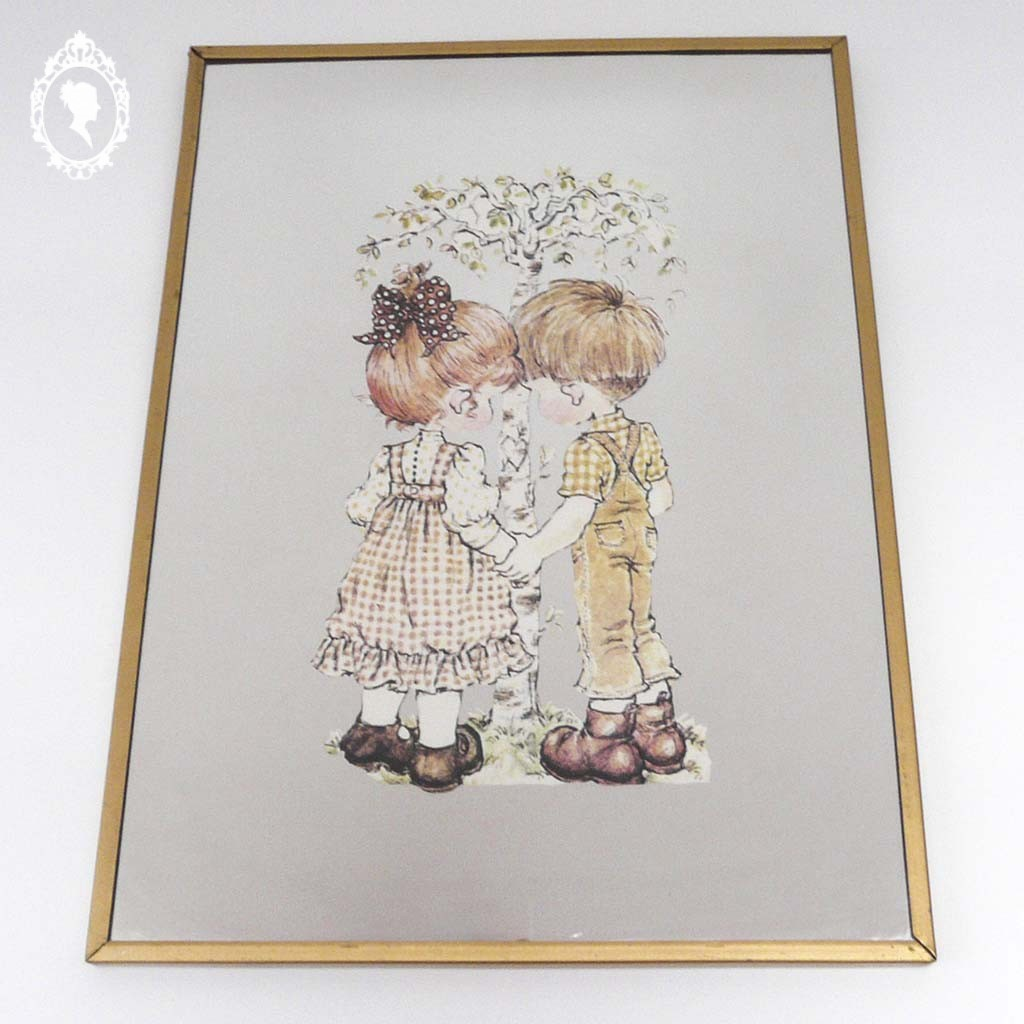 Miroir glace cadre mural suspendre sarah kay holly for Miroir glace