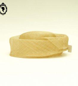 1 Chic Chapeau femme cérémonie beige clair naturel Joa Nell en sisal NEUF Taille S