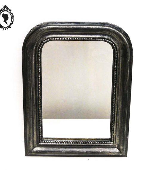 miroir cadre ancien louis philippe bois patin noir argent style baroque. Black Bedroom Furniture Sets. Home Design Ideas