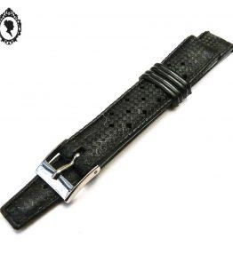1 Bracelet de montre noir homme plastique style Tropic 15 - 16 mm Vintage Neuf