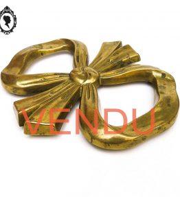 VENDU Dessous de plat en forme de nœud en métal laiton doré shabby chic
