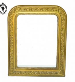 1 Miroir cadre ancien mouluré en bois et stuc doré XIXème