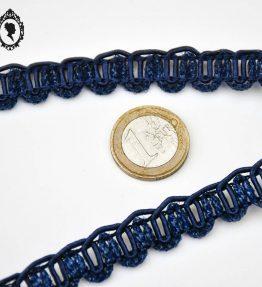 1 Galon bleu marine effet pailleté L 1,2 cm 12 m passementerie vintage pop