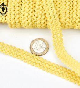 1 Galon jaune poussin coton ajouré L 1,3 cm 18 m passementerie vintage pop