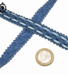 1 Galon laine bleu brique L 1,7 cm passementerie vintage pop