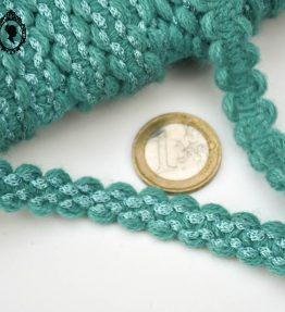 1 Galon laine bleu turquoise L 1,2 cm vintage