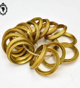 1 Lot 16 anneaux en laiton creux doré accessoire pour rideau ancien